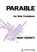 Parable 18 opus 133 Vincent Persichetti Partition laflutedepan.com