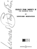 Elégy For Mippy 2 Leonard Bernstein Partition laflutedepan.com