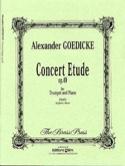 Concert etude opus 49 Alexander Goedicke Partition laflutedepan.com