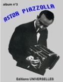 Album N° 3 Astor Piazzolla Partition Musique du monde - laflutedepan