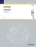 Sonatina Hans Werner Henze Partition Trompette - laflutedepan.com