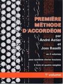 Premiere méthode d'accordéon volume 1 laflutedepan.com