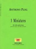 Three Miniatures Anthony Plog Partition Tuba - laflutedepan.com