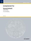 Konzertstück (1933) Paul Hindemith Partition laflutedepan.com