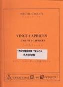 20 Caprices Jérôme Naulais Partition Trombone - laflutedepan.com