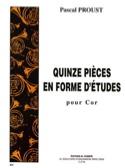 15 pièces en forme d'études Pascal Proust Partition laflutedepan.com