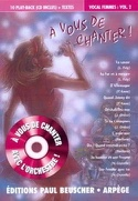A vous de chanter vocal femmes volume 2 Partition laflutedepan.com