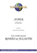 Aimer Roméo Et Juliette Gérard Presgurvic Partition laflutedepan.com