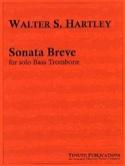 Sonata Breve Walter S. Hartley Partition Trombone - laflutedepan.com