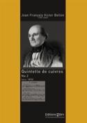 Quintette de Cuivres N° 2 Jean François Victor Bellon laflutedepan.com