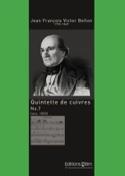 Quintette de Cuivres N° 7 Jean François Victor Bellon laflutedepan.com