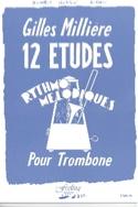 12 Etudes Rythmo Mélodiques Gilles Millière Partition laflutedepan.com