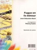 Fugue En Fa Mineur BWV 578 BACH Partition laflutedepan.com