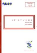 13 Etudes Alain Londeix Partition Caisse-claire - laflutedepan.com
