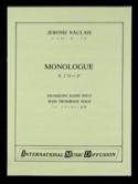 Monologue Jérôme Naulais Partition Trombone - laflutedepan.com