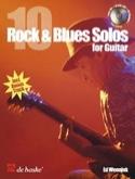 10 Rock & blues solos for guitar Ed Wennink Partition laflutedepan.com