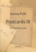 Postcards 3 Anthony Plog Partition Trombone - laflutedepan.com