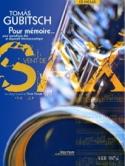 Pour Mémoire Thomas Gubitsch Partition Saxophone - laflutedepan.com