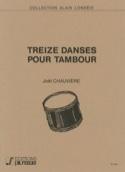 13 Danses pour Tambour Joël Chauvière Partition laflutedepan.com