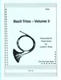 Bach Trios Volume 3 BACH Partition Cor - laflutedepan.com