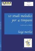 10 Etudes Mélodiques Pour 4 Timbales Luigi Morleo laflutedepan.com