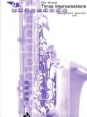 Three Improvisations Phil Woods Partition Saxophone - laflutedepan.com