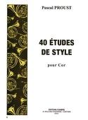 40 Etudes de style pour cor Pascal Proust Partition laflutedepan.com