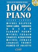 100% piano volume 2 Partition Chansons françaises - laflutedepan.com