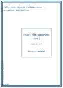 Etudes pour vibraphone - Livre 1 François Narboni laflutedepan.com