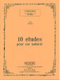 10 Etudes Pour Cor Naturel Eric Hulin Partition Cor - laflutedepan.com