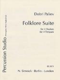 Folklore Suite Dobri Paliev Partition Timbales - laflutedepan.com