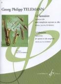 12 Fantaisies (Original pour Flûte) Georg Ph Telemann laflutedepan.com