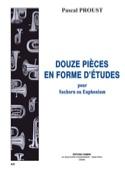 12 pièces en forme d'études Pascal Proust Partition laflutedepan.com