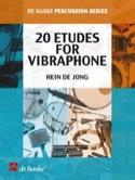 20 Etudes Pour Vibraphone Hein De Jong Partition laflutedepan.com