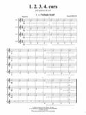 1, 2, 3, 4 cors Pascal Proust Partition Cor - laflutedepan.com