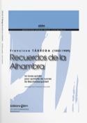 Recuerdos de la Alhambra Francisco Tarrega Partition laflutedepan.com
