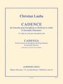 13ème Etude de Style - Cadence Christian Lauba laflutedepan.com