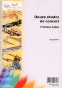 12 études de concert - Francine Aubin - Partition - laflutedepan.com