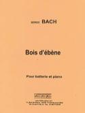 Bois d'ébène Serge Bach Partition Batterie - laflutedepan.com