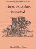 Three Venetian Canzoni - Partition - laflutedepan.com