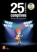 25 comptines à la guitare MP3 - Partition - laflutedepan.com