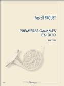 Premières gammes en duo - Pascal Proust - Partition - laflutedepan.com