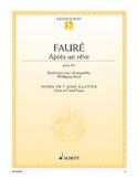Après un rêve, op. 7/1 Gabriel Fauré Partition Cor - laflutedepan.com