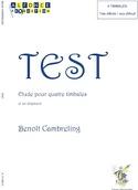 Test Benoit Cambreling Partition Timbales - laflutedepan.com