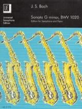 Johann Sebastian Bach - Sonata G Minor BWV 1020 - Partition - di-arezzo.fr