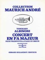 Concert En Fa Majeur Tomaso Albinoni Partition laflutedepan.com