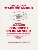 Concerto en Ré Mineur - Tomaso Albinoni - Partition - laflutedepan.com