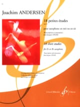 18 Petites Etudes Opus 41 Joachim Andersen Partition laflutedepan.com
