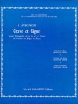 Grave Et Gigue Jean Avignon Partition Trompette - laflutedepan.com