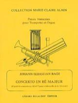 Concerto En Ré Majeur BACH Partition Trompette - laflutedepan.com